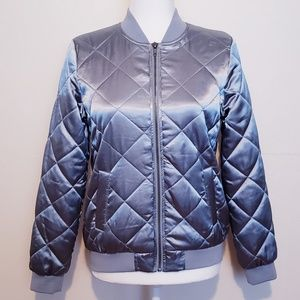 Forever 21 Metallic Diamond Quilted Jacket
